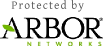 DDoS protected by Arbor Networks