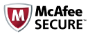 McAfee Secure Certified Site: Protected from malware, viruses, phishing attacks, and other malicious activities